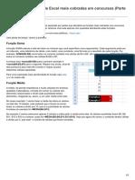 Funções e Fórmulas de Excel Mais Cobradas Em Concursos Parte 1