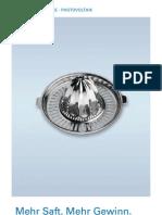 Photovoltaik - Mehr Saft. Mehr Gewinn.