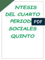 Síntesis Del 4 Periodo Sociales