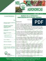 Manejo de La Nutrición y Fertilización de La Palma Aceitera