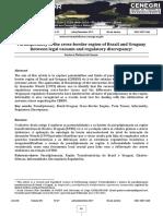 Paradiplomacy in the cross-border region of Brazil and Uruguay Between legal vacuum and regulatory discrepancy