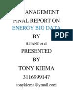 Tony Kiema 3116999147 Final It Report