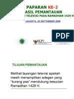 Presentasi Pantauan Ramadhan 1429 h Tgl 25 September 2008