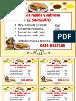 COMIDA RÁPIDA Y SABROSA EL SARGENTO.pptx