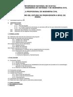 Contenido Mínimo Del Estudio de Preinversión a Nivel de Perfil