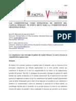 Las Competencias Como Estrategia de Gestión Del Del Capital Humano Un Nuevo Reto Para La Competitividad8 Tematica 5