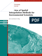 A Review of Interpolation Methods for Environmental Sciences