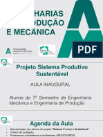 Aula Inaugural Sistema Produtivo Sustentavel 2_2017 - 27092017