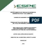 IMPACTO DEL COMERCIO ELECTRÓNICO COMO HERRAMIENTA PARA  POTENCIAR EL TURISMO EN LAS PYMES DEL CANTÓN RUMIÑAHUI