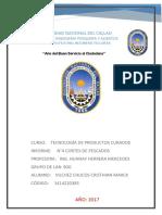 Informe de Cortes de Los Productos Hidrobiológicos