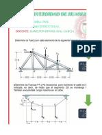 analisis estrutural cables y armaduras