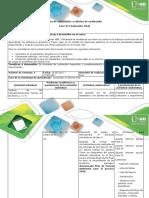 Guía de Actividades y Rúbrica de Evaluación Fase VI Evaluación Final