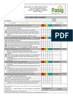 5s Audit Check Sheet