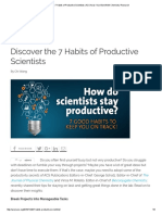 Discover the 7 Habits of Productive Scientists _ ACS Axial_ Your Bond With Chemistry Research