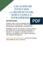 Aplicación de Inyección Intramuscular