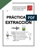 EXTRACCIÓN. LABORATORIO DE QUIMICA ORGANICA