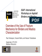 Overview of the Use of Fracture Mechanics for Binders and Mastics