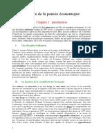 1- l'Histoire de La Pensee Economique