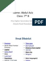 presentation of  swat district