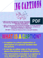 Writing Captions Pp t and Lesson 6