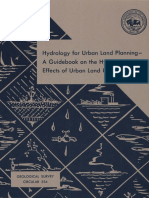 Leopold, L. T. 1968 Hydrology for Urban Planning - A Guide Book on The