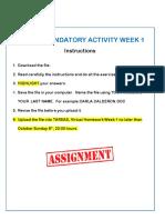 Mandatory Activity Week 1
