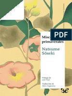 [Maestros de La Literatura Japonesa 12] Natsume, Soseki - Miscelaneas Primaverales [12926] (r1.0)