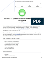 Obtain a TLS_SSL Certificate and Enable HTTPS Encryption – Tania Rascia