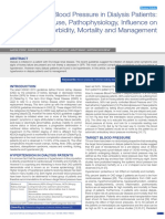 High Blood Pressure in Dialysis Patients Causes Pathophysiology Influence on Morbidity Mortality and Management