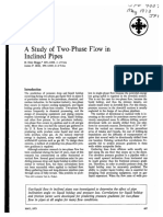 A Study of Two Phase Flow in Inclined Pipes