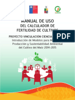 Manual Modelo de Fertilización de Maíz Grano