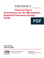 Existing Pavement Input Information for the MechanisticEmpirical Pavement Design Guide