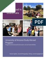 Study Abroad in Guatemala Brochure