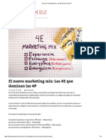 El Nuevo Marketing Mix_ Las 4E Dominan Las 4P