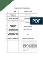 Análisis Sentencia C- 271- 2013