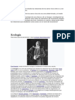 Ecologia .. El Padre de La Eco.. Historia . Ramas