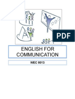 Facilitator Guide (english for communication wec8013)
