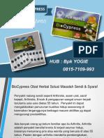 0813-2152-9993 (Bpk Yogie) | Herbal Untuk Cairan Sendi, Biocypress Lombok