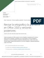 Revisar La Ortografía y La Gramática en Office 2010