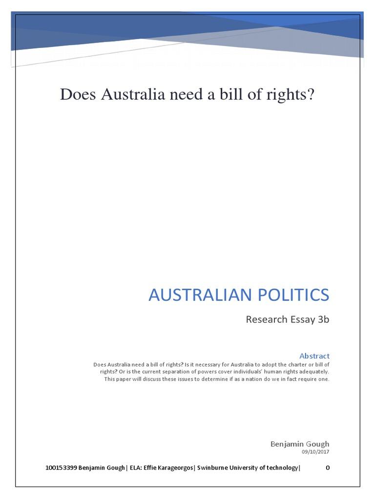Australia needs a bill of rights essay