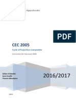 Cycle d'Expertise comptable 2005