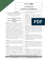 Ley Provincial 5.381 Educacion
