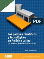 Parque Cinetificos y Tecnologicos en America Latina