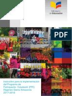 Instructivo Para La Implementacion Del PPE Regimen Sierra Amazonia 2017 2018
