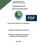 Sylabus Impacto Ambiental Hidrocarburifero