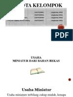 PPT Usaha Miniatur