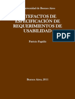 Artefactos de especificación de requerimientos de usabilidad