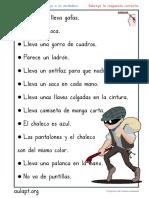 Compresión Lectora Frases Verdad o Mentira Letra Imprenta Personajes 1