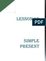 Lesson 12 Simple Present