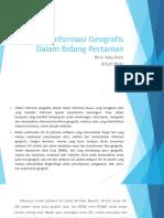 Sistem Informasi Geografis Dalam Bidang Pertanian Ppt